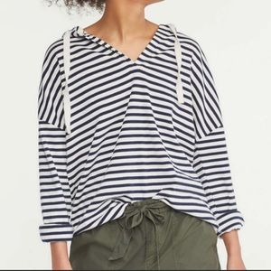 Lou and Grey striped organic cotton beach hoodie